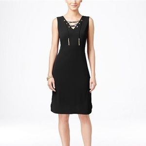 INC lace up dress